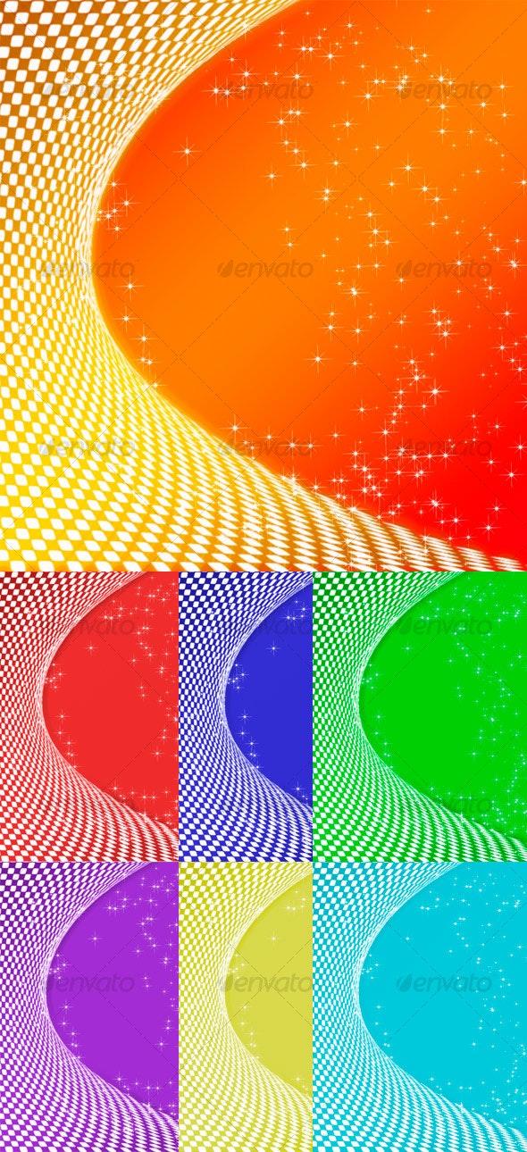 Halftone Frame - Backgrounds Graphics