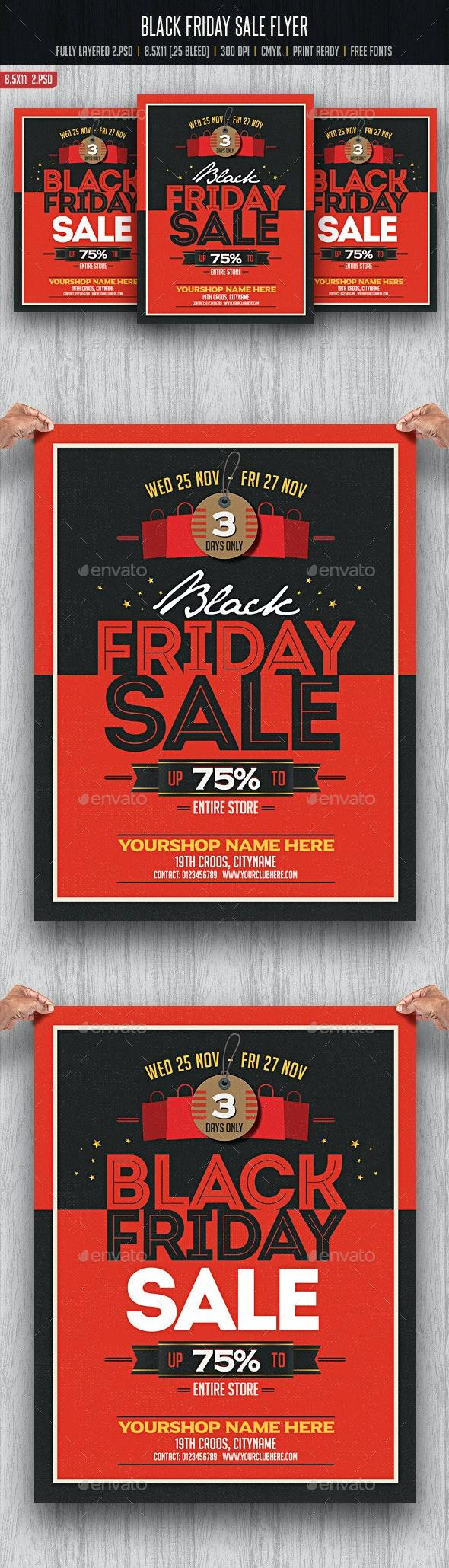 Black Friday Flyer - Flyers Print Templates