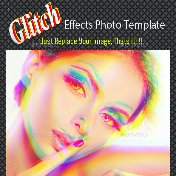 Glitch Effects Photo Templates