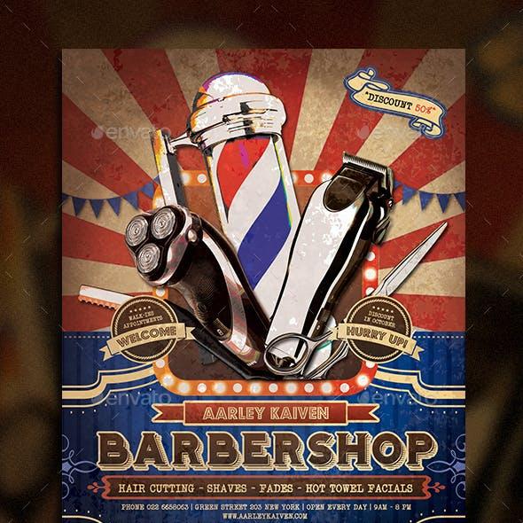 Vintage Barbershop Flyer