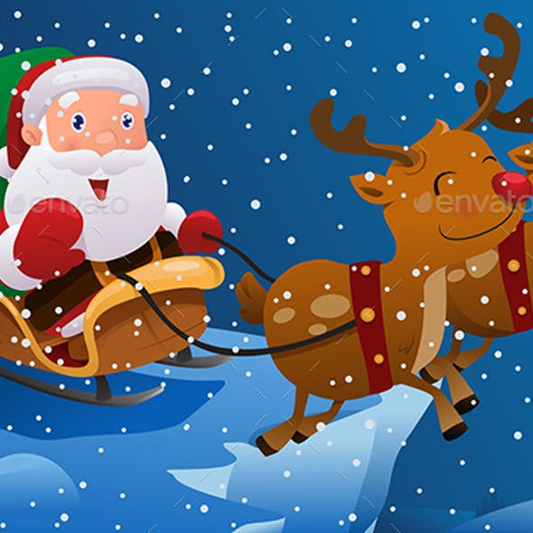 Santa Claus Riding the Sleigh