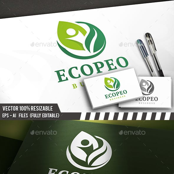 Eco People Logo Template