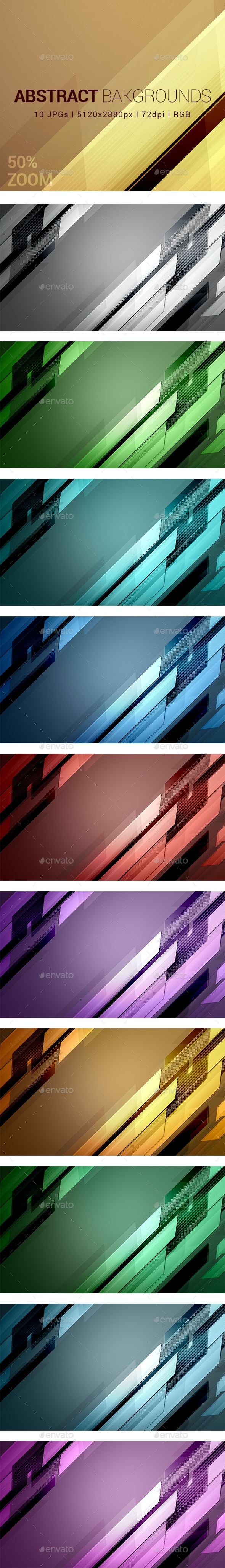 10 Abstract Backgrounds Vol 7 - Abstract Backgrounds