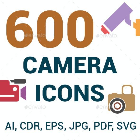 600 Camera Icons Set
