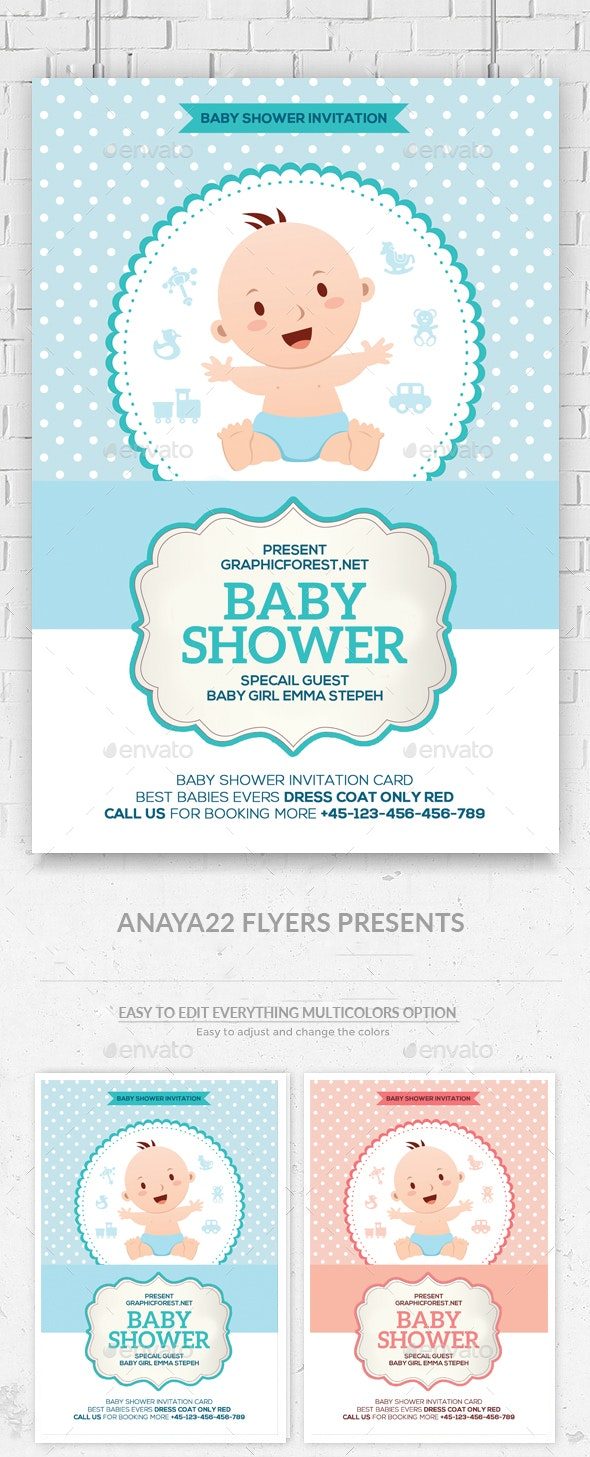 Baby Shower Invitation Card Psd