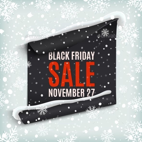 Black Friday Sale Paper Banner.