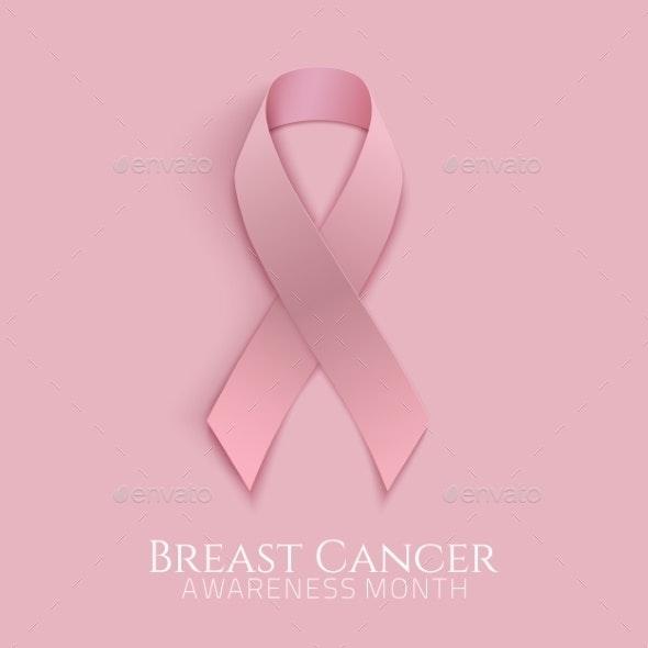 Breast Cancer Pink Ribbon.  - Health/Medicine Conceptual