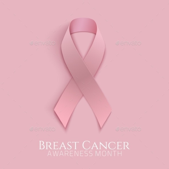 Breast Cancer Pink Ribbon.  - Health/Medicine Conceptual