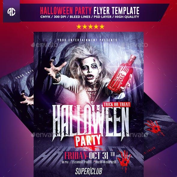Halloween Party   Psd Flyer Template