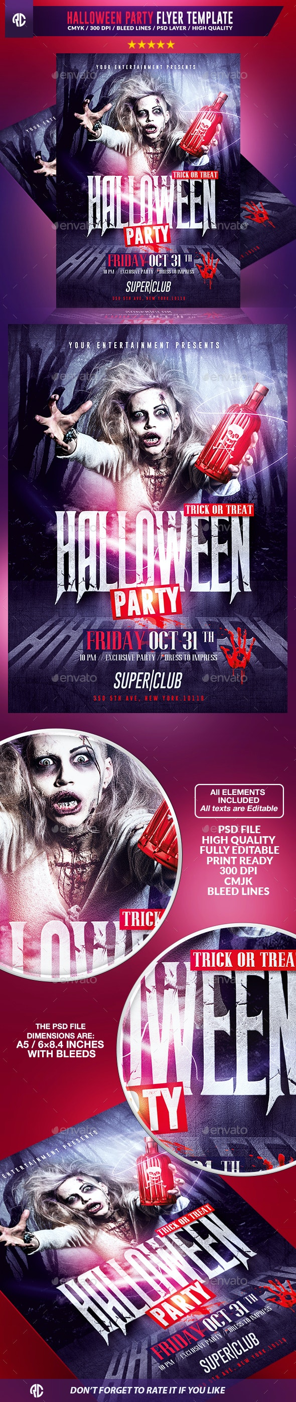 Halloween Party | Psd Flyer Template - Events Flyers