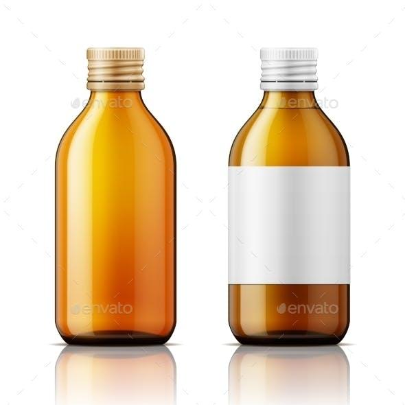 White Plastic Bottle for Pills