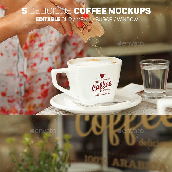5 Delicious Coffee Mockups