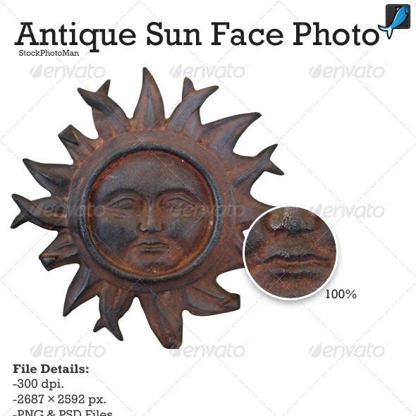 Antique Sun Face Photo