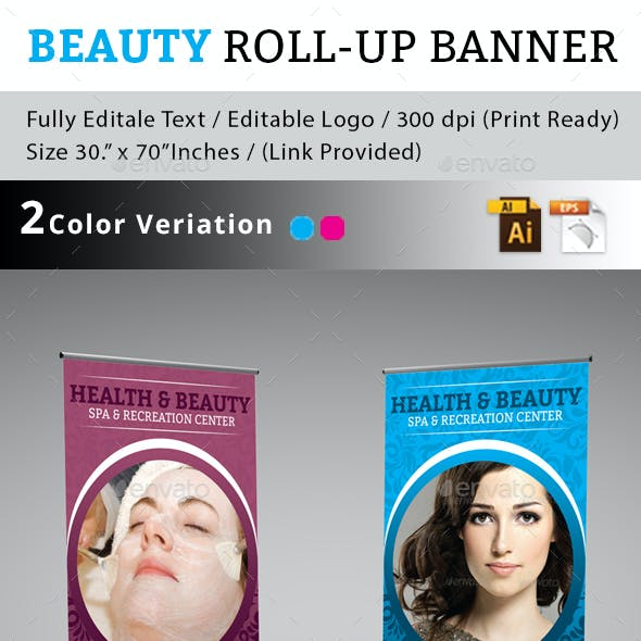 Health & Beauty Roll-up Banner