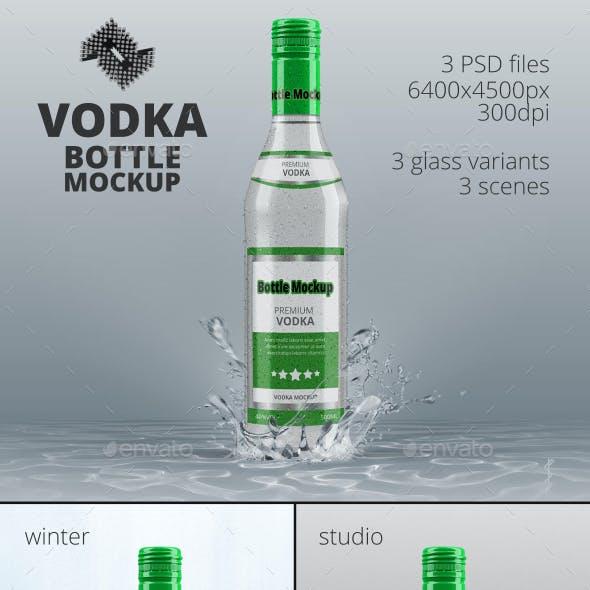 Vodka Bottle Mockup Vol.6