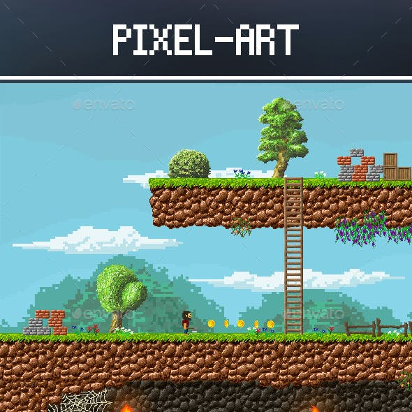 2d pixel art for game