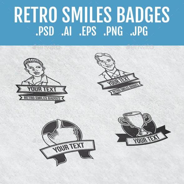 Retro Smile Badges