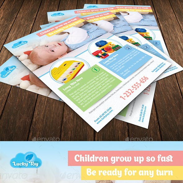 Baby Toys Offer Flyer Template 120