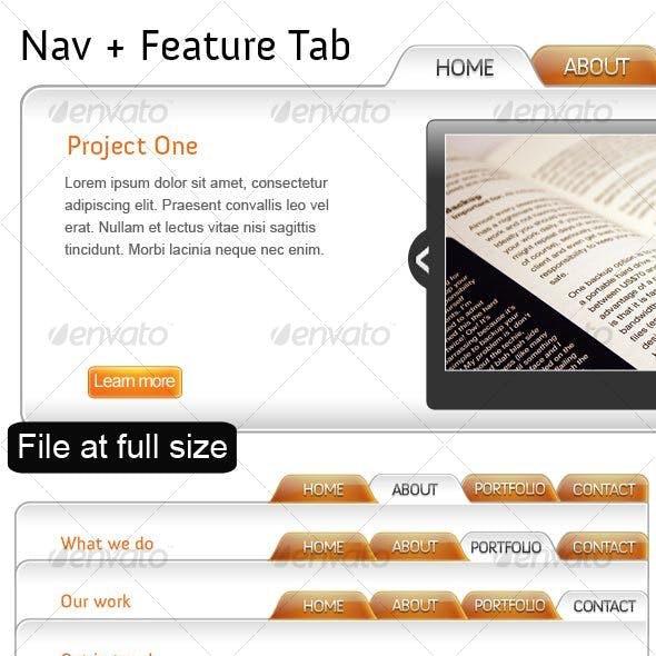 2 in 1 Nav + Feature Tab