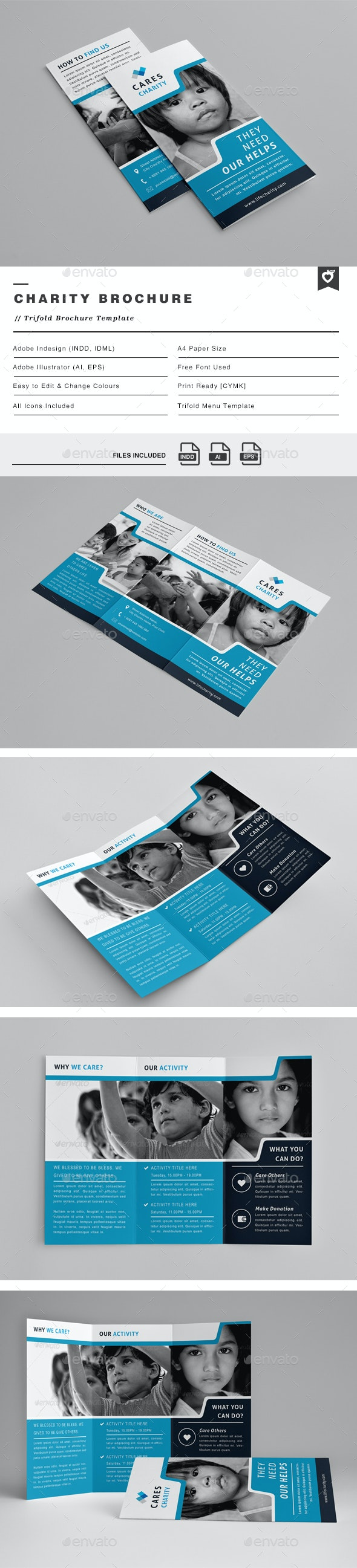 Charity Trifold Brochure - Informational Brochures