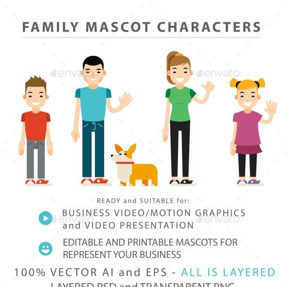Family Mascot Characters - 5 Mascots