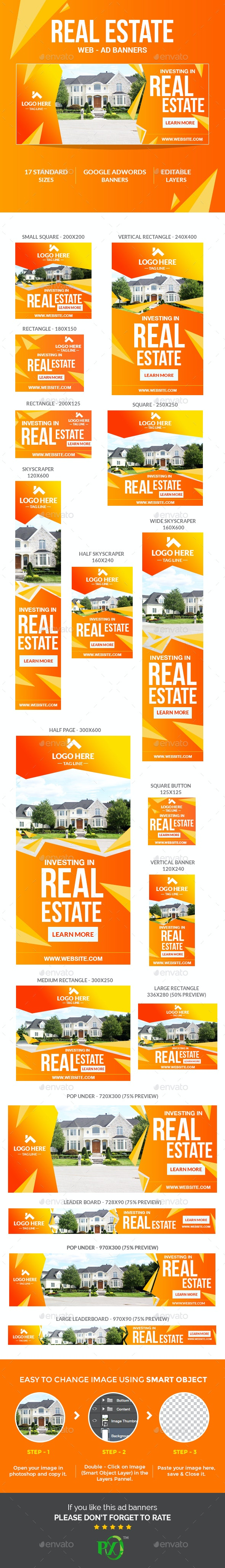 Real Estate Ad Banners - Banners & Ads Web Elements