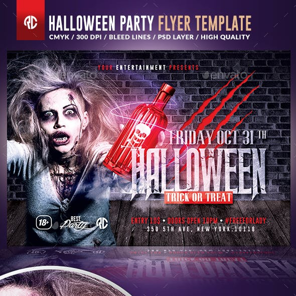 Halloween Night Party   Psd Flyer Template