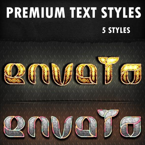 Premium Text Syles