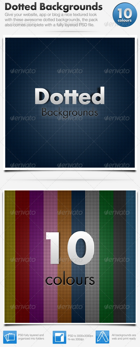 Dotted Background x 10 Hi-Resolution - Backgrounds Graphics