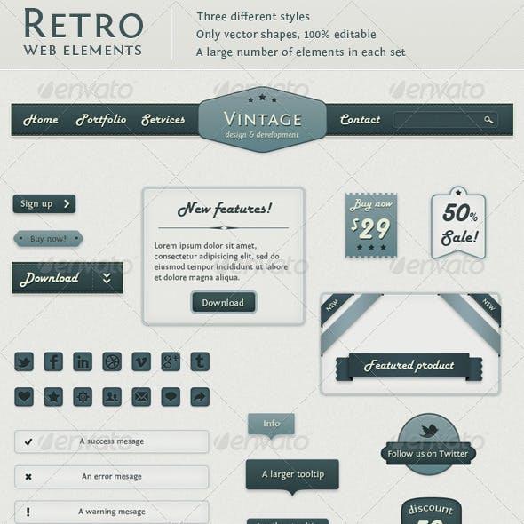 Retro Web Elements - Vintage Touch
