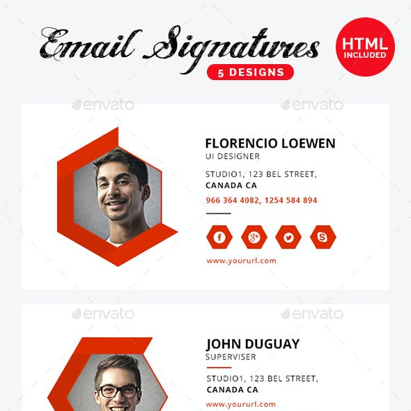 Email Signature - 5 Templates