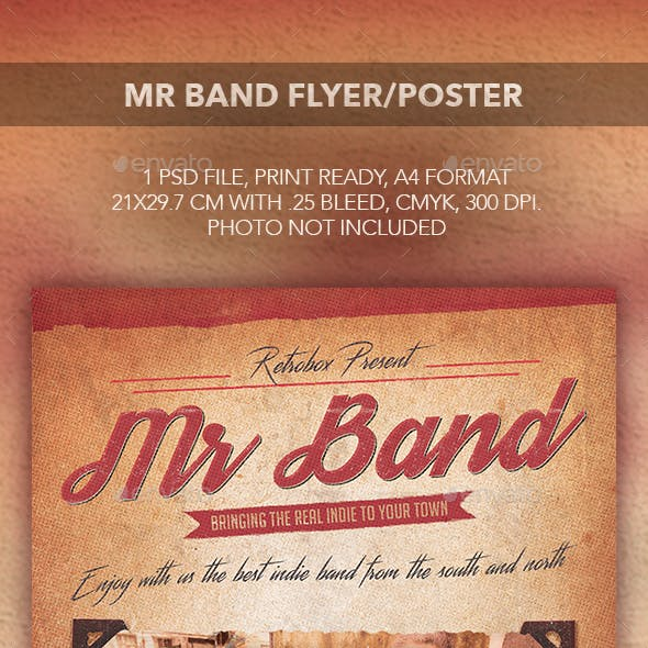 MR Band Flyer Poster