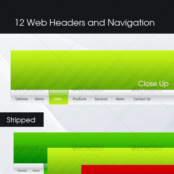 Web header & Navigation