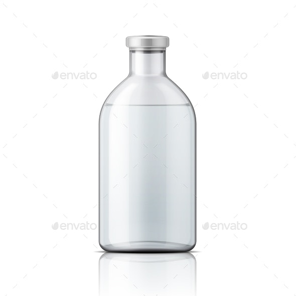Glass Medical Bottle With Aluminium Cap. - Man-made Objects Objects