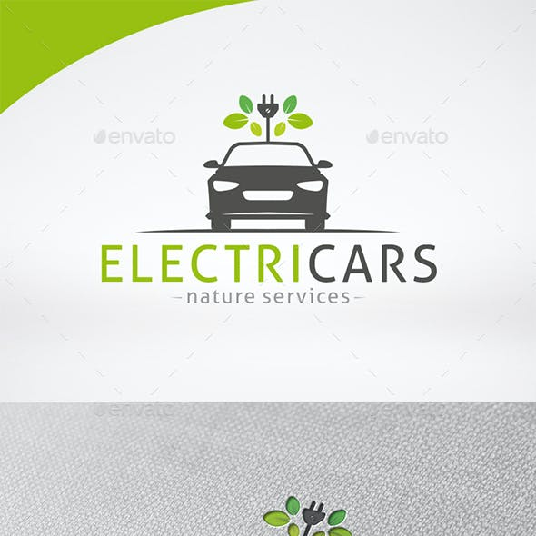 Electric Car Logo Template