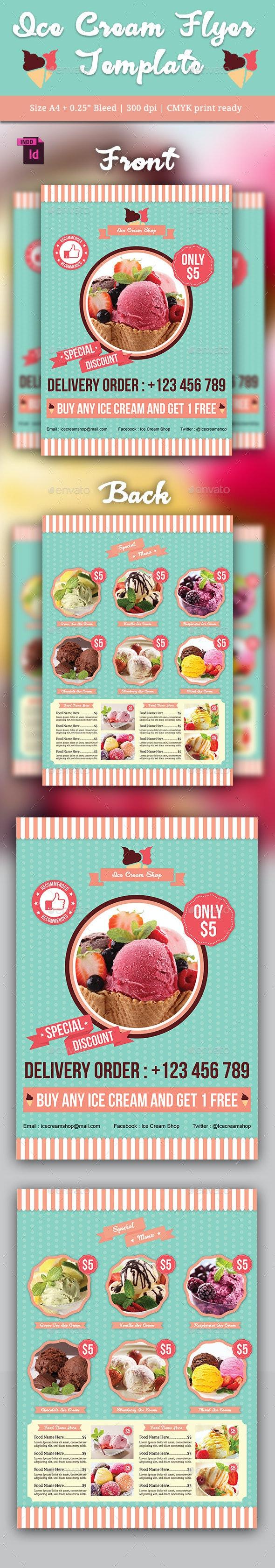 Ice Cream Flyer Template - Restaurant Flyers