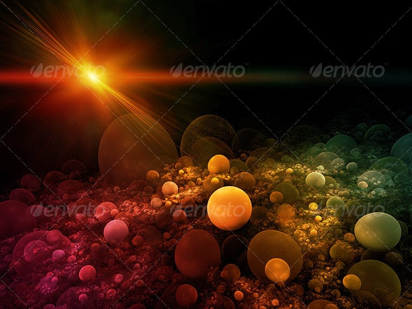 Sphere Field Background - Abstract Backgrounds