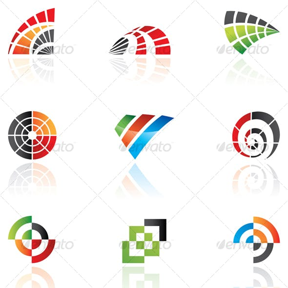vector design elements: abstract icon set