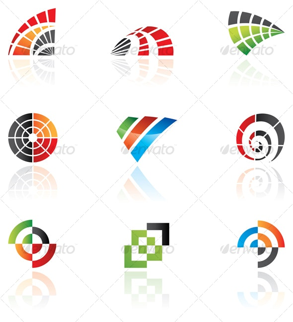 vector design elements: abstract icon set - Abstract Icons