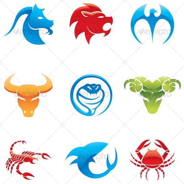 colorful animal icons
