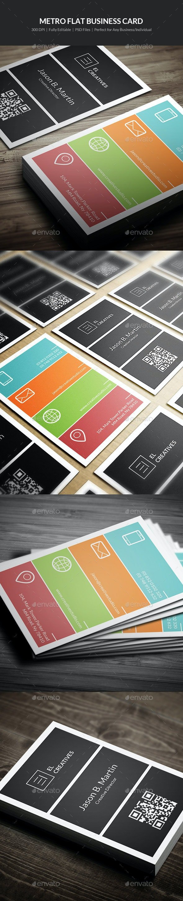 Metro Flat Business Card - 04 - Creative Business Cards