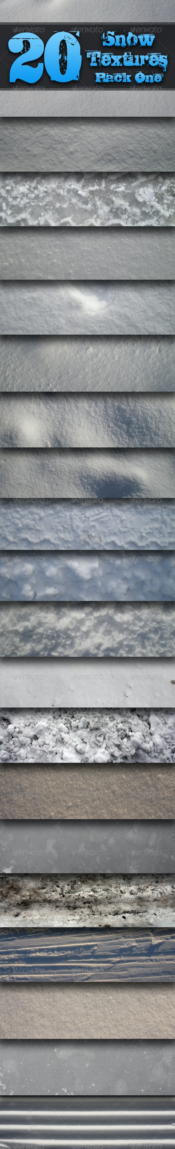 20 Snow Textures - Pack One  - Textures