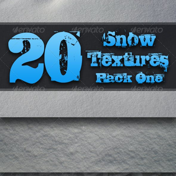 20 Snow Textures - Pack One