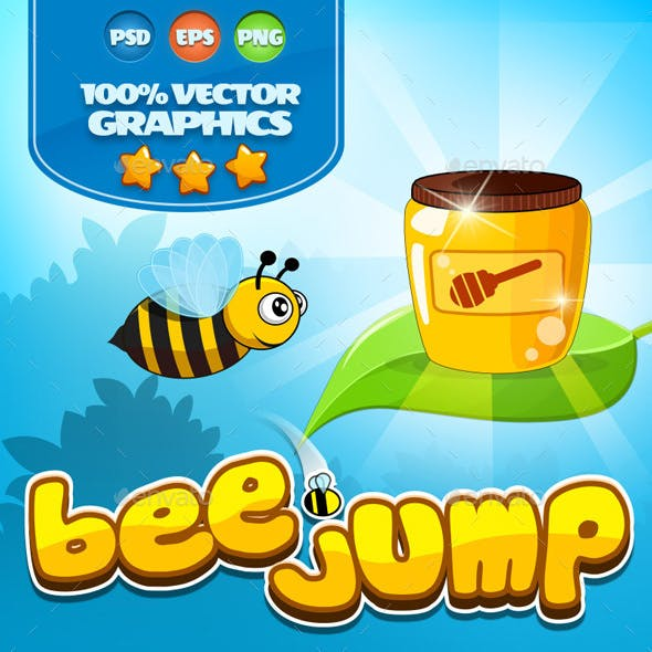 Bee Jump Graphics Kit