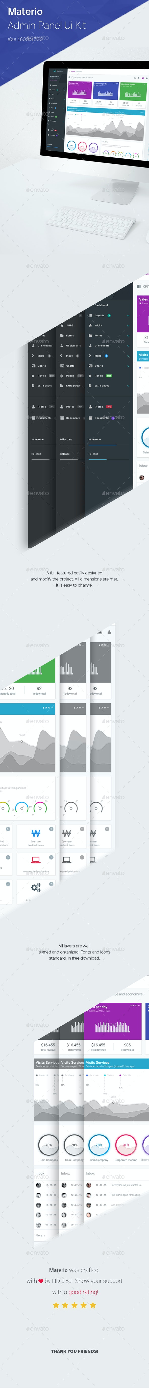 Materio - Responsive Admin Template  - User Interfaces Web Elements
