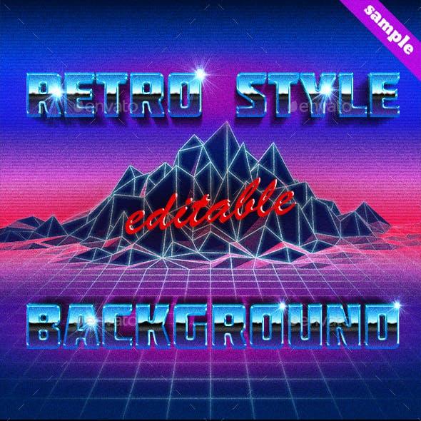 80s Retro Future Editable Background