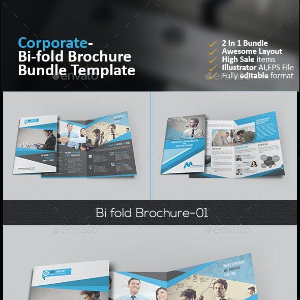 Bi Fold Brochure Bundle 2 in 1