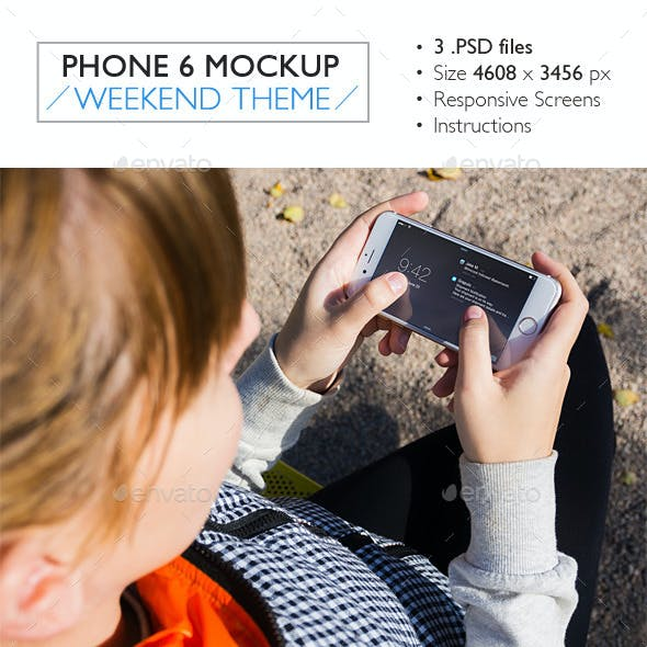 Phone 6 Mockup Weekend Theme