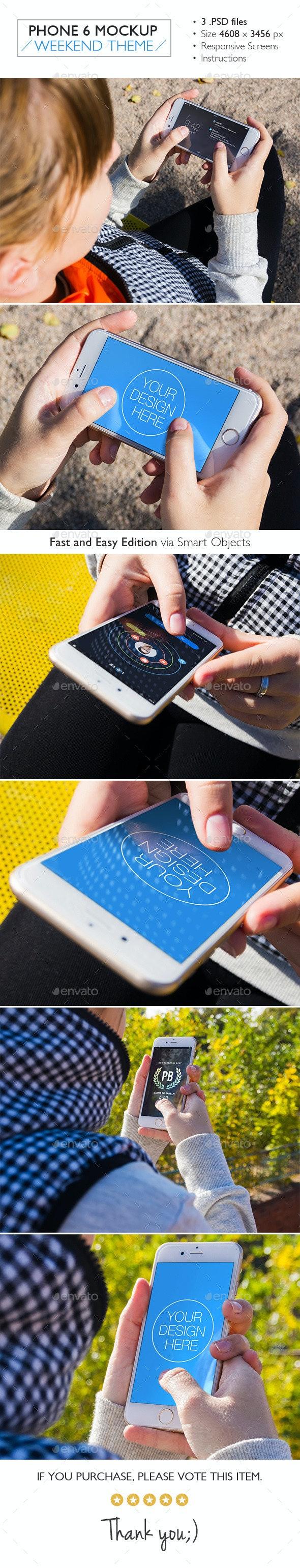 Phone 6 Mockup Weekend Theme - Mobile Displays