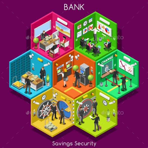 Bank Cells Isometric